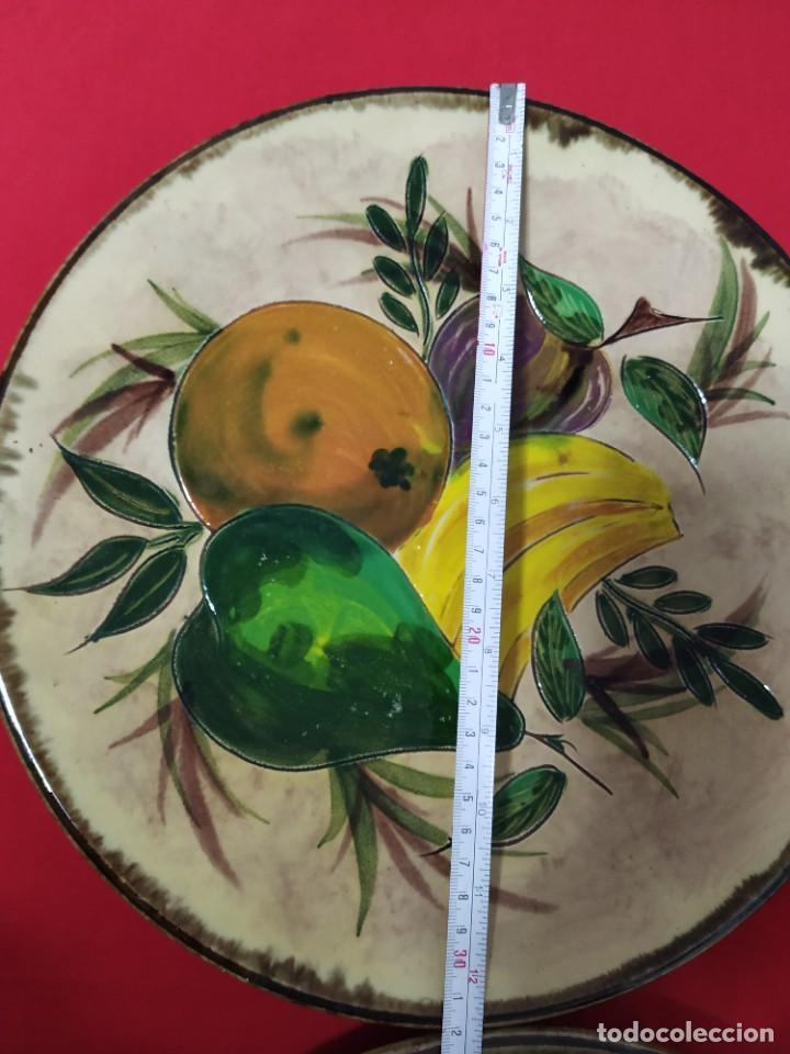 Antigüedades: Pareja platos cerámica - Foto 2 - 221724833