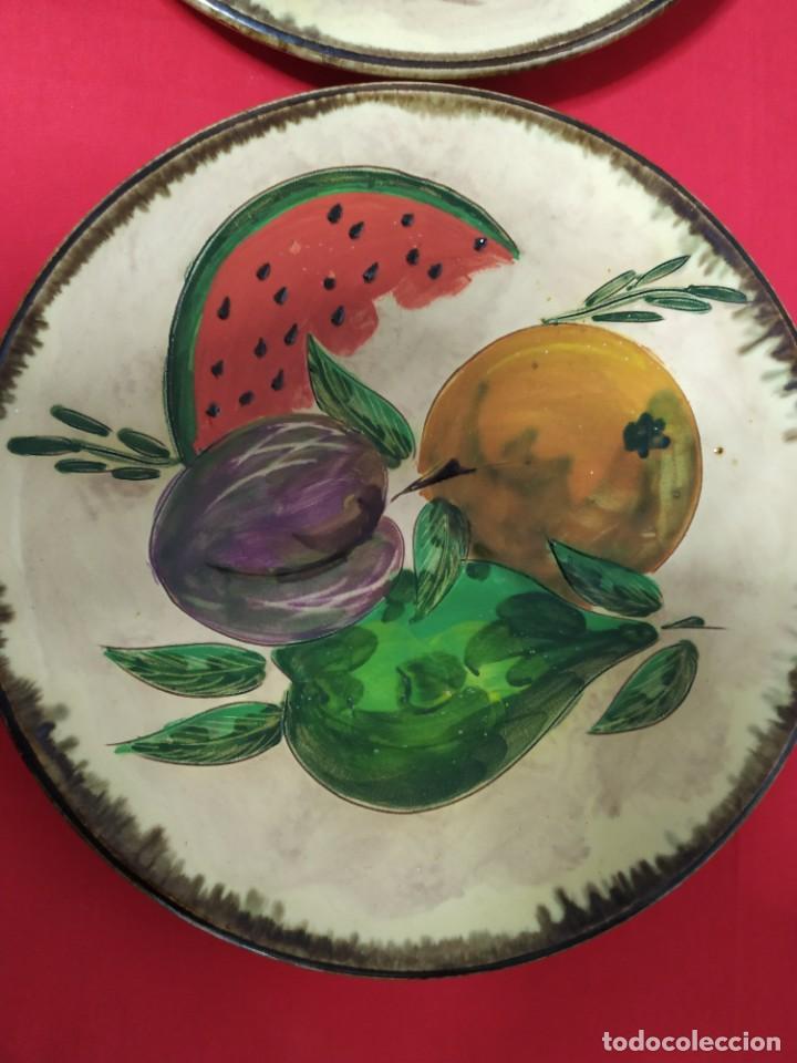 Antigüedades: Pareja platos cerámica - Foto 3 - 221724833