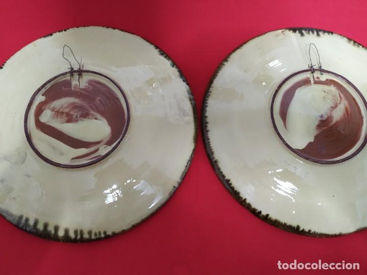 Antigüedades: Pareja platos cerámica - Foto 4 - 221724833