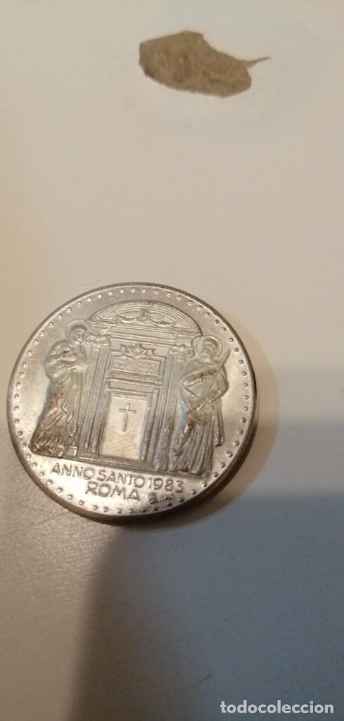 Antigüedades: C-KISS80 UNA MEDALLA TIPO MONEDA DE JUAN PABLO II AÑO SANTO 1983 ROMA - Foto 2 - 221725853
