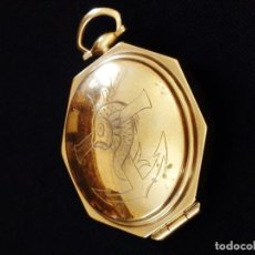 Antigüedades: PORTA VIÁTICO ELABORADO EN PLATA DORADA Y PUNZONADA, S. XX.. Lote 221726041