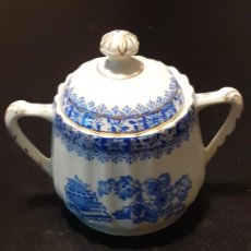 Antiquités: AZUCARERO PORCELANA SANTA CLARA CHINA BLAU. Lote 221728073