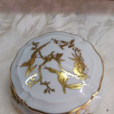 Antigüedades: ANTIGUA BOMBONERA PORCELANA LIMOGES IMPECABLE. Lote 221729882