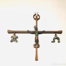 Antigüedades: ANTIGUO CRUCIFIJO DE MODEST MORATO DE 20CM X 20CM. Lote 221750075