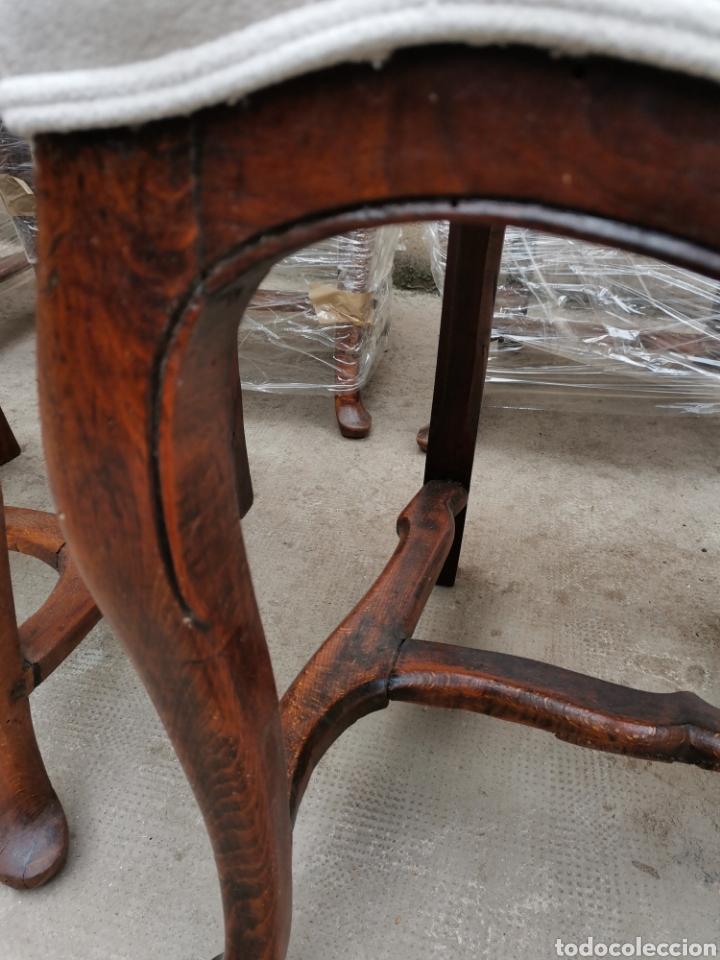 Antigüedades: 6 sillas reina Ana del xviii - Foto 3 - 221753215
