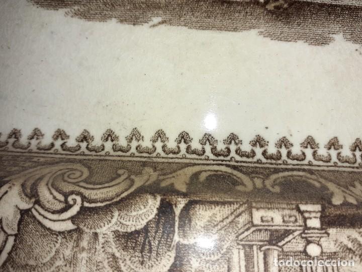 Antigüedades: Preciosa bandeja escenas romanticas, sello San Juan Aznalfarache S.XIX. - Foto 3 - 221761597