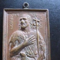 Antigüedades: ANTIGUA PLACA PORTA PAZ DE SAN JUAN REALIZADA EN BRONCE DEL XVIII. Lote 221763126