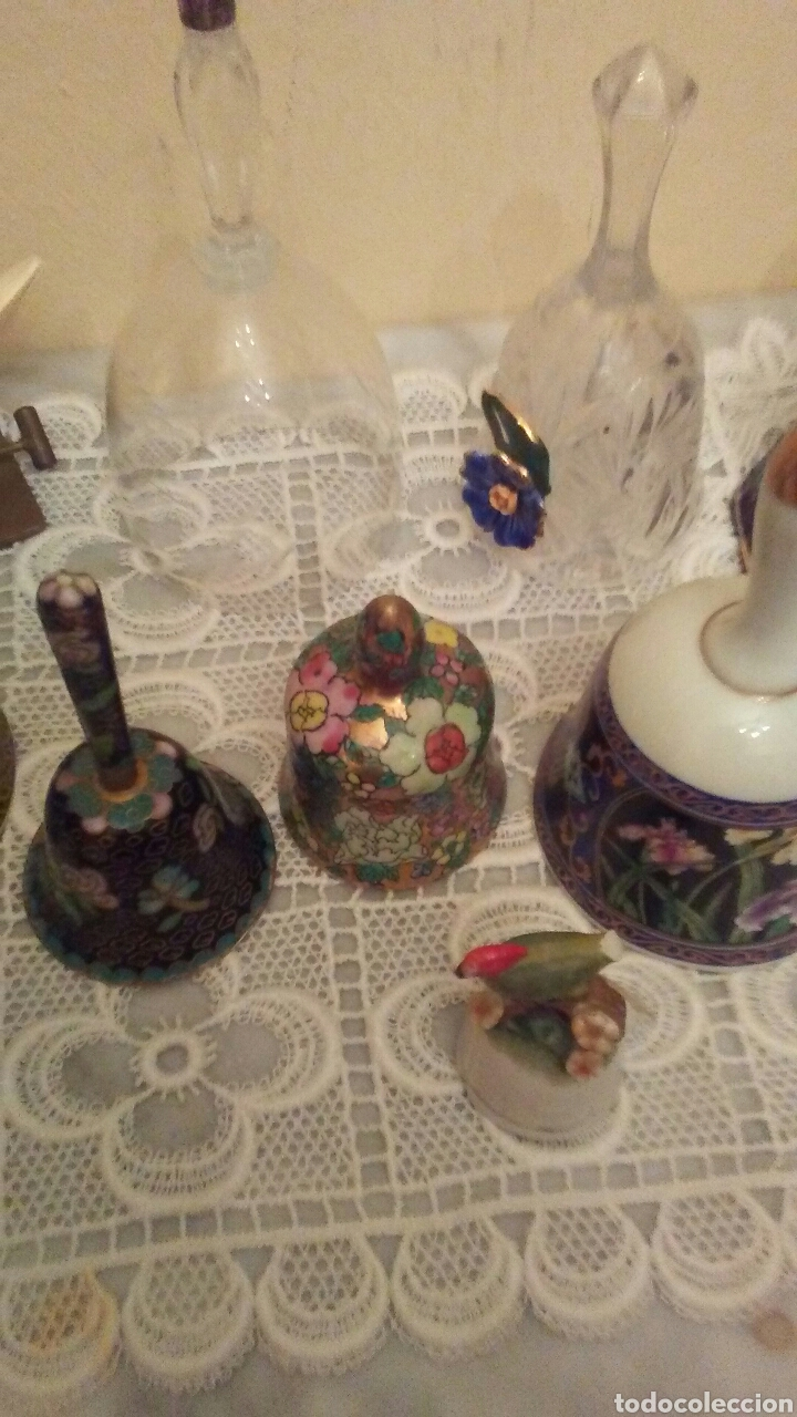 Antigüedades: Lote campanas surtido.(ver fotos y leer descripción) - Foto 5 - 221767756