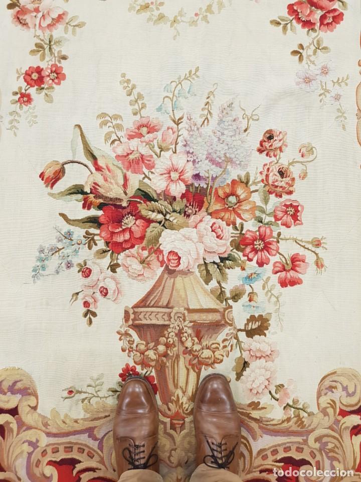 Antigüedades: Tapiz francés, fabricado a mano del siglo XIX - Foto 2 - 221774036