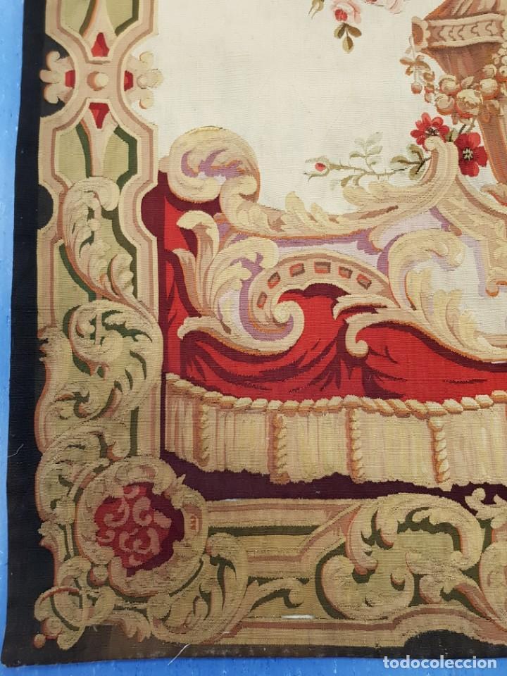 Antigüedades: Tapiz francés, fabricado a mano del siglo XIX - Foto 3 - 221774036