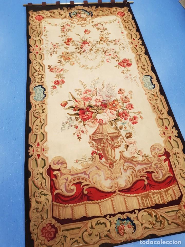 Antigüedades: Tapiz francés, fabricado a mano del siglo XIX - Foto 4 - 221774036