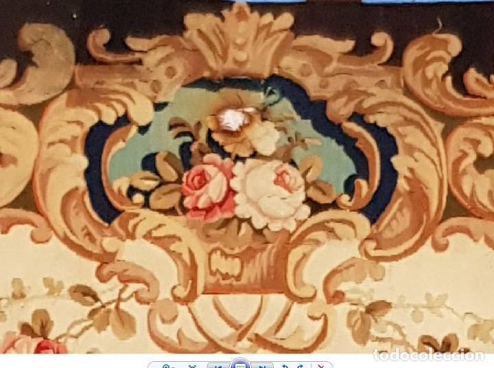 Antigüedades: Tapiz francés, fabricado a mano del siglo XIX - Foto 5 - 221774036