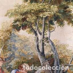"""Antigüedades: Tapiz manual Fundacion de Gremios, 1986. """"Caza del ciervo"""" de Salvador Maella - Foto 3 - 221774592"""