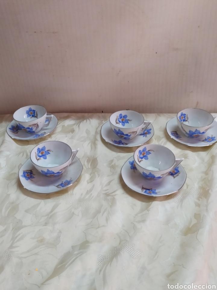 ANTIGUAS TAZAS DE TÉ O CAFÉ CHECOSLOVACA PORCELANA BLOCH Y CO (Antigüedades - Porcelanas y Cerámicas - Otras)