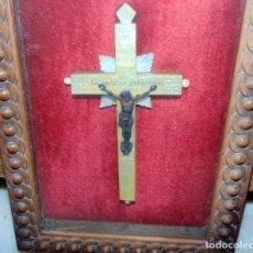 Antigüedades: ANTIGUA CRUZ DE NACAR, ENMARCADA, VER FOTOS.W. Lote 221795377