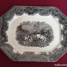 Antigüedades: EXCEPCIONAL FUENTE,BANDEJA DE LA FABRICA LA AMISTAD,CARTAGENA,(MURCIA),S.XIX. Lote 221814652