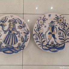 Antigüedades: TALAVERA LA MENORA. PAREJA DE BANDEJAS.. Lote 221819330