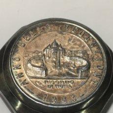Antiguidades: CAJA CON ROSARIO PLATEADO 1983 ANNO DELLA REDENZIONE RICORDO DE ROMA. Lote 221822136
