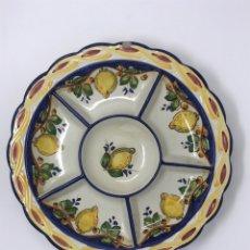 Antigüedades: BANDEJA ENTREMESERA CERÁMICA. Lote 221845306