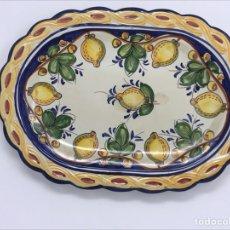 Antigüedades: BANDEJA CERÁMICA. Lote 221845638
