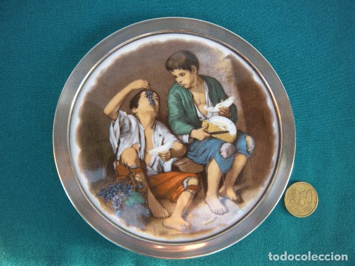 Antigüedades: MARCOS DE PLATA CON PLAFÓN ESMALTADO. - Foto 4 - 221851460