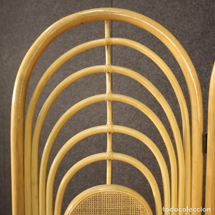 Antigüedades: Pantalla de diseño italiano en madera exótica - Foto 4 - 221860682