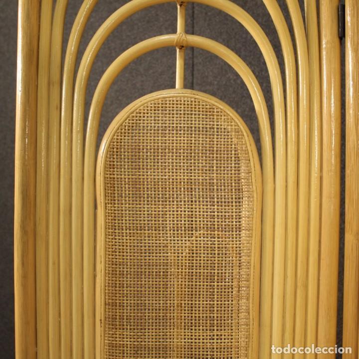 Antigüedades: Pantalla de diseño italiano en madera exótica - Foto 5 - 221860682