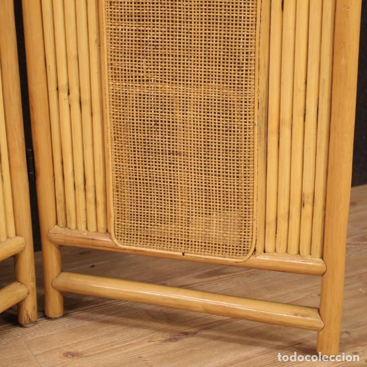 Antigüedades: Pantalla de diseño italiano en madera exótica - Foto 6 - 221860682