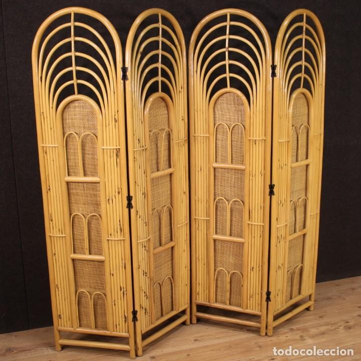 Antigüedades: Pantalla de diseño italiano en madera exótica - Foto 8 - 221860682