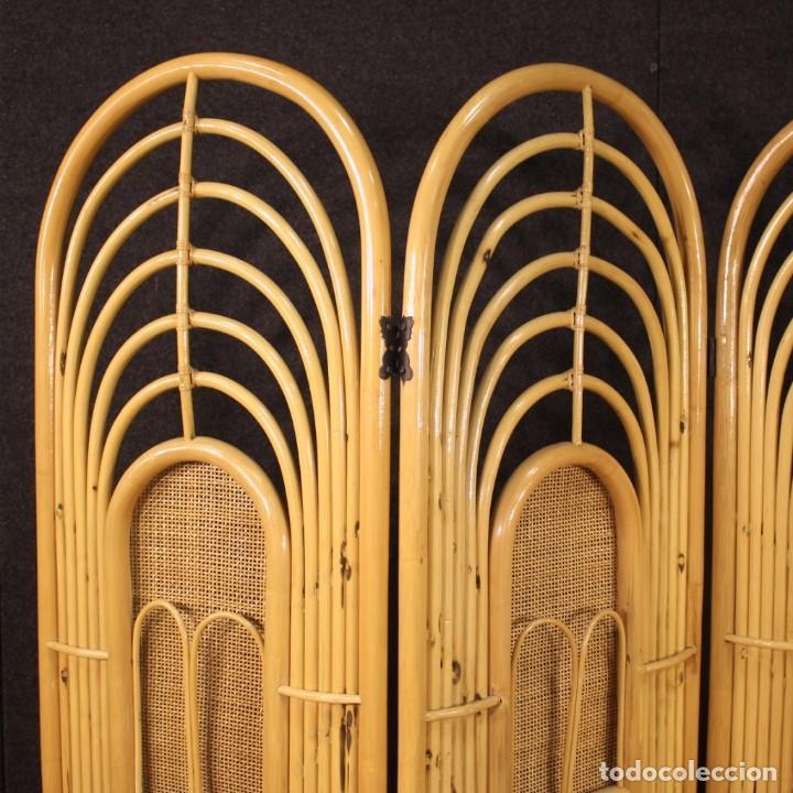 Antigüedades: Pantalla de diseño italiano en madera exótica - Foto 10 - 221860682