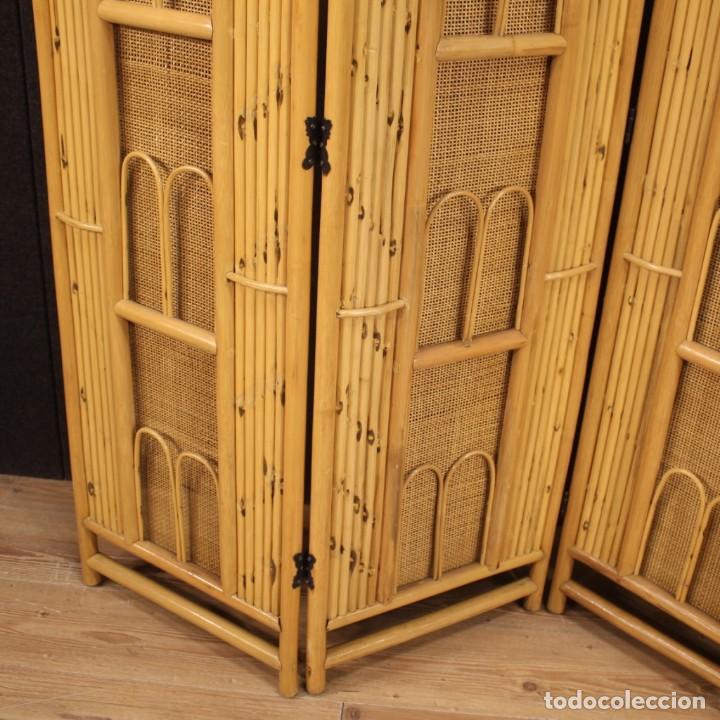 Antigüedades: Pantalla de diseño italiano en madera exótica - Foto 11 - 221860682