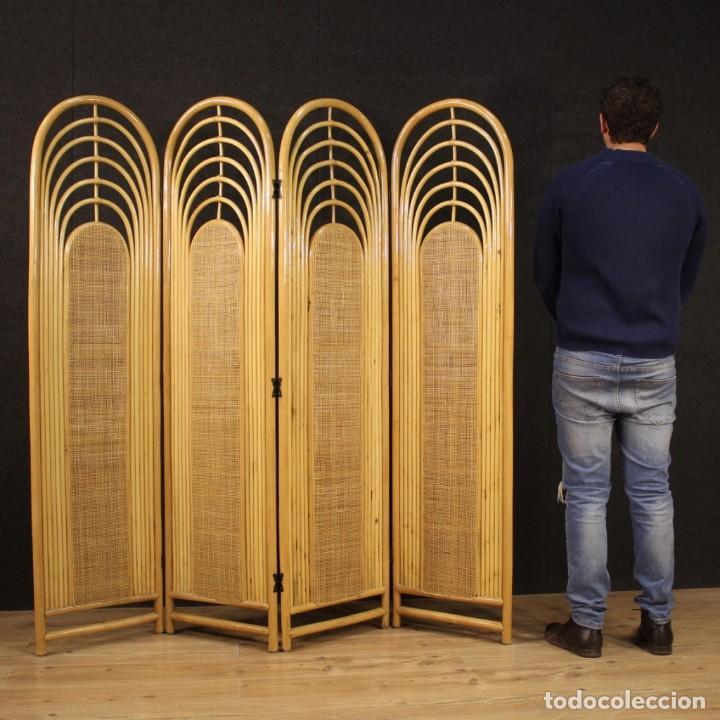 Antigüedades: Pantalla de diseño italiano en madera exótica - Foto 12 - 221860682