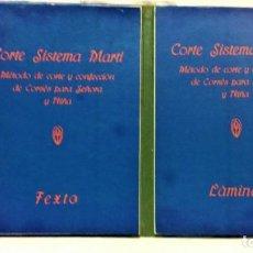 Oggetti Antichi: CORTE PARISIEN SISTEMA MARTÍ.CORSÉS.AÑO 1929.DOS LIBROS(TEXTO Y LÁMINAS) EN UN VOLUMEN. Lote 221870950