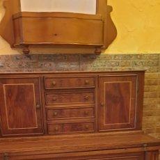 Antigüedades: TOCADOR-ESCRITORIO CON ESPEJO Y BUTACON. Lote 221876753