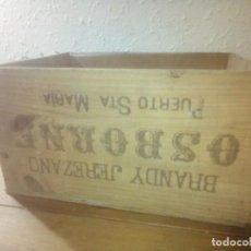 Antigüedades: ANTIGUA CAJA MADERA OSBORNE. Lote 221883995