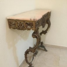 Antigüedades: MESA CONSOLA BRONCE. Lote 221884597