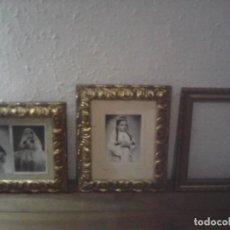 Antigüedades: LOTE 3 MARCOS DORADOS PAN DE ORO. Lote 221885473