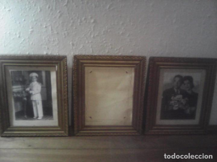 LOTE 3 MARCOS DORADOS PAN DE ORO? (Antigüedades - Hogar y Decoración - Marcos Antiguos)