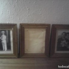 Antigüedades: LOTE 3 MARCOS DORADOS PAN DE ORO?. Lote 221885642