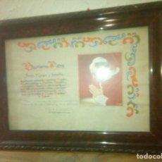 Antigüedades: DOCUMENTO BENDICION PAPAL PIO XII AÑO 1954. Lote 221886581
