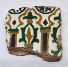 Antigüedades: DE MUSEO,EXCEPCIONAL AZULEJO RENACENTISTA DE ARISTA EN CERAMICA DE TOLEDO,S. XVI. Lote 221889330