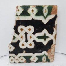 Antigüedades: DE MUSEO,EXCEPCIONAL AZULEJO RENACENTISTA DE ARISTA EN CERAMICA DE TOLEDO,S. XVI. Lote 221889632