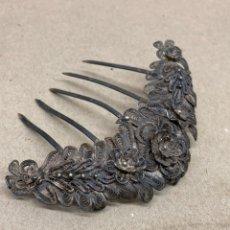 Antigüedades: PEINETA DE PLATA SIGLO XVIII EN FILIGRANAS PARA COLECCIONISTAS. Lote 221891983