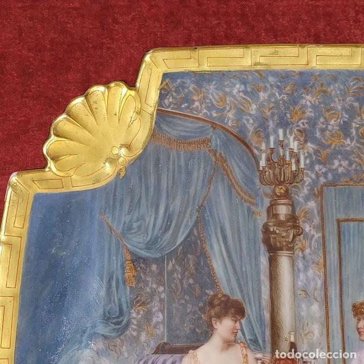 Antigüedades: PLATO. PORCELANA BELLAMENTE ESMALTADO. FIRMADO A DE LAGARDE. FRANCIA. SIGLO XIX - Foto 5 - 221892358