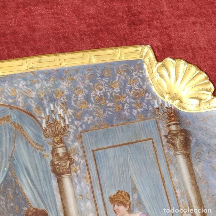 Antigüedades: PLATO. PORCELANA BELLAMENTE ESMALTADO. FIRMADO A DE LAGARDE. FRANCIA. SIGLO XIX - Foto 7 - 221892358