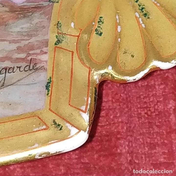 Antigüedades: PLATO. PORCELANA BELLAMENTE ESMALTADO. FIRMADO A DE LAGARDE. FRANCIA. SIGLO XIX - Foto 10 - 221892358