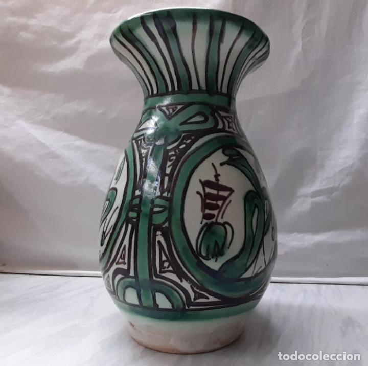 Antigüedades: Bonito jarrón florero cerámica de Teruel - Punter . 20cm - Foto 2 - 221898432