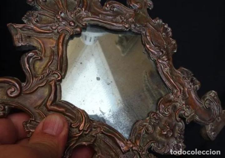 Antigüedades: Espejo cobre repujado, siglo XVIII - Foto 4 - 221900910