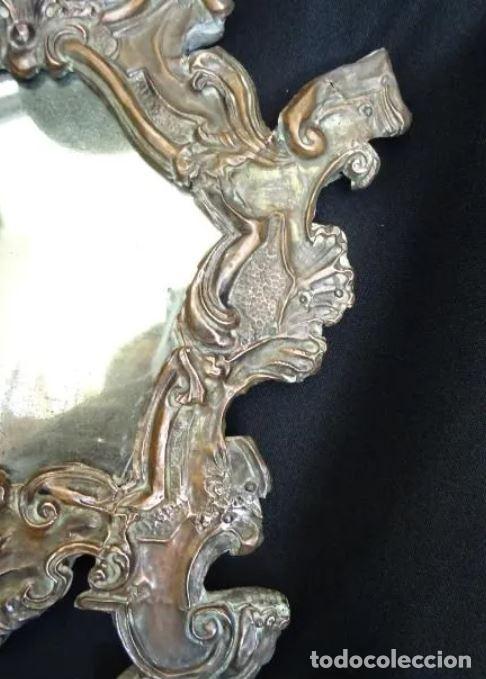 Antigüedades: Espejo cobre repujado, siglo XVIII - Foto 6 - 221900910