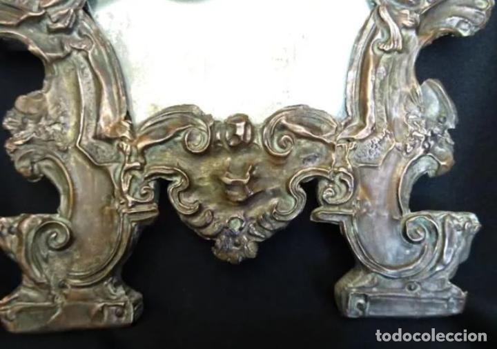 Antigüedades: Espejo cobre repujado, siglo XVIII - Foto 7 - 221900910